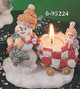 Snowmen Mommy and Baby Candle Holder