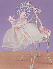 Pink Victorian Dress & Slippers