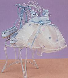 Blue Victorian Dress & Slippers
