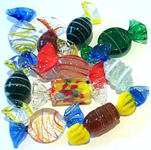 Art Glass Candy 10 piece