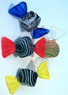 Art Glass Candy 4 piece