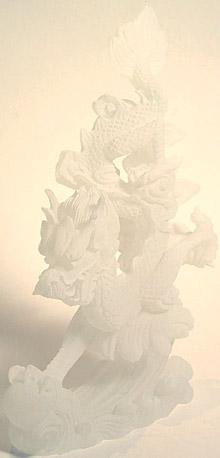 Dragon Sculpture - white