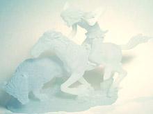 Indian Hunter Sculpture - white